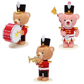 Mô hình giấy cắt dán thủ công đồ chơi gấu cute COMBO 0010