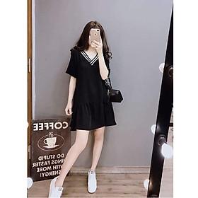 Váy cổ viền trắng đen S&L