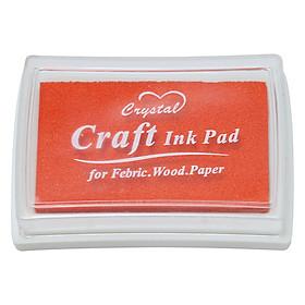 Hộp Mực Dấu Craft Ink Pad - Màu Đỏ Cam