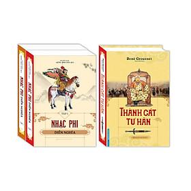 Sách - Combo Thành Cát Tư Hãn (bìa cứng) + Nhạc phi diễn nghĩa (Trọn bộ 2 tập bìa cứng)