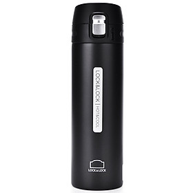 Lock&Lock Vacuum Mug/Water Cup One-key opening, lightweight and portable 500ml LHC3220WHT-PR two colors optional