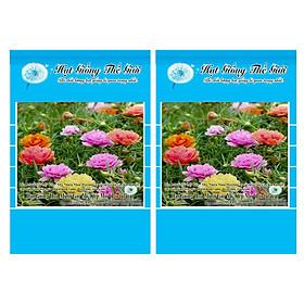 Bộ 2 Gói Hạt Giống Hoa Mười Giờ Mỹ Kép - Mix Nhiều Màu (Portulaca) 200h
