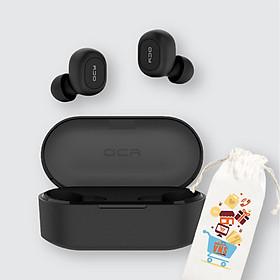 Tai Nghe Bluetooth Không Dây TWS Xiaomi QCY T2C V5.0 Màu Đen Có Dock tự sạc - Hàng chính hãng