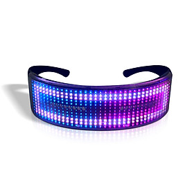 LED Party Glasses BT APP Control LED Light Up Glasses Flashing Glowing Luminous Glasses USB Rechargeable DIY Animation