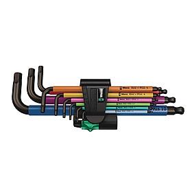 Bộ lục giác đầu bi nhiều màu sắc 950/9 hex-plus multicolour 1 sb L-key set , Wera 05073593001
