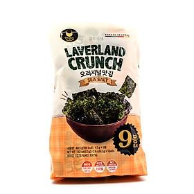 Rong Biển Laverland Crunch Vị Muối Tự Nhiên (4.5g x 3 gói)