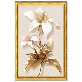 Tranh treo tường trên nền canvas hoa Ly lãng mạng trang trí phòng khách và phòng ngủ nhiều kích cỡ Tipo_0129a