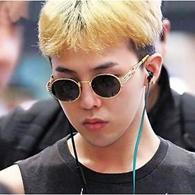 Kính xinh, Kính râm/Kính mát Mắt tròn cao cấp phong cách Retro Hàn Quốc + tặng Tuavit Kính xinh Mini tiện lợi