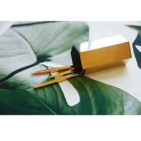 Ống bút, Cốc cắm bút, ống đựng dụng cụ để bàn bằng thép không gỉ - Decor trang trí bàn học 10.6x5.5 cm