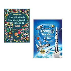 Combo 2 cuốn Giải đố nhanh bằng sách tranh khổng lồ + Big book- Cuốn sách khổng lồ về tên lửa và các thiết bị vũ trụ