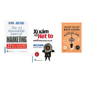 Combo 3 cuốn sách: 22 Qui Luật Bất Biến Trong Marketing + Xì Xầm Vs Hét To - Bí Kíp X Trong Quảng Cáo PR + Nghệ thuật bán hàng của người hướng nội