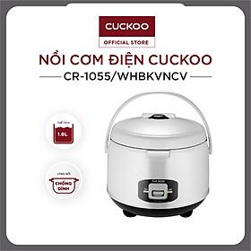 Nồi cơm điện tử Cuckoo CR-1055 1,8 lít màu trắng đen / bảng quốc tế - Hàng Chính hãng