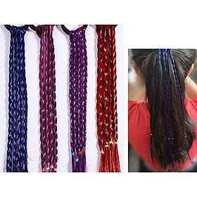 Buộc tóc highlight cột tết tóc giả