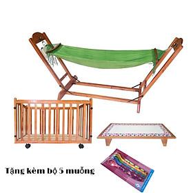 [ TẶNG QUÀ ] - BỘ NÔI ĐIỆN THÔNG MINH ĐA NĂNG CAO CẤP 4 CHỨC NĂNG CHO EM BÉ ( GIƯỜNG, VÕNG, NÔI, CŨI) - được làm bằng gỗ tự nhiên - dễ dàng vệ sinh- cực kỳ an toàn- thoáng mát- dùng cho bé đến 5 tuổi - TẶNG BỘ 5 MUỖNG ĂN