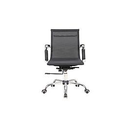 Ghế lưới xoay văn phòng, chân thép mạ crom, xoay 360 độ F-B02
