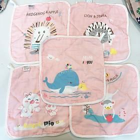 Set 5 khăn mặt siêu thấm mềm cho bé