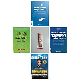 Combo Sát thủ kinh doanh thời @ :Thôi miên bằng ngôn từ + Khơi nguồn trực giác + Tuyệt chiêu phòng chống rắc rối trên mạng(tặng cuốn Thành công trong kinh doanh và cuộc sống cùng Shark Robert Herjavec kèm bookmark kim loại))