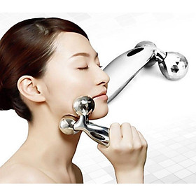 3D Face Body Slim Massager Y Shape Roller Ball Beauty Tool