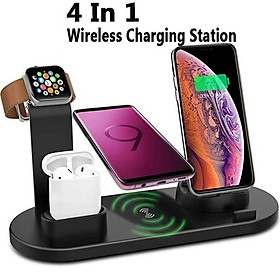 Wireless Charger Stand for IPhone Apple Watch Airpods,3 In 1 Wireless Charging Dock Station Qi Fast Charging Pad for IWatch 5 4 3 for IPhone 11 Pro SE X Xs Xr 8plus Samsung S10 S9 S8 Note 10 9 Huawei Xiaomi