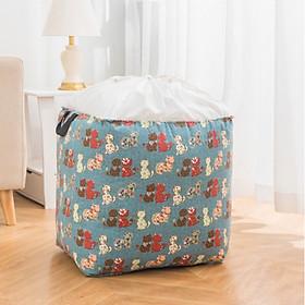 Túi đựng chăn màn, quần áo cao cấp size đại ( 50x40x50cm )