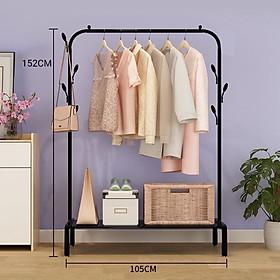 Giá kệ treo quần áo đơn 1 thanh treo đồ tiện lợi VANDO cao cấp kèm 1 kệ để giày tiện lợi cho phòng ngủ, cửa hàng