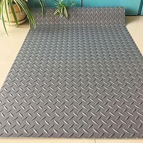 Thảm nhựa que diêm màu xám - nhựa dẻo chống trơn trượt - khổ 1,2m