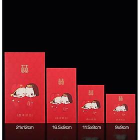 Bộ 10 Phong Bao Lì Xì Trao Duyên Đám Cưới Cao Cấp
