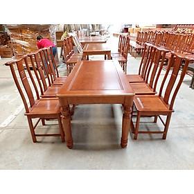 Bộ bàn ăn gỗ sồi nga 6 ghế chữ thọ bàn vuông