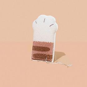 Bông tắm tẩy tế bào chết và bảo vệ làn da cho mẹ và bé, bông tắm có hình dáng chân mèo siêu dễ thương và độc đáo