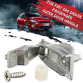 Chrome Metal Outer Door Handle Hinge Repair Kit O/S N/S For Fiat 500 51964555