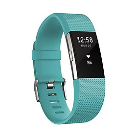 Fitbit Charge 2 Heart Rate + Fitness Wristband, Plum, Large (International Version)