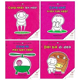 Combo Ehon - Chơi Cùng Momo - Chú Bé Quả Đào (Bộ 4 Cuốn)