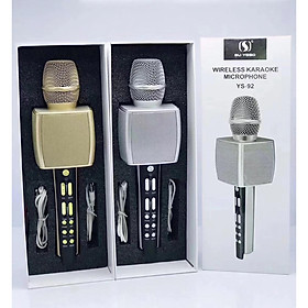 Micro Karaoke Bluetooth SU-YOSD YS-92 - Hàng Nhập Khẩu (Giao Màu Ngẫu Nhiên)