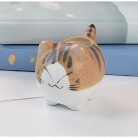 Tượng trang trí chậu hoa gốm sứ mèo (Siêu dễ thương)