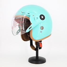 Mũ Bảo Hiểm có kính 3/4 đầu lót màu cao cấp