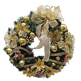 Vòng nguyệt quế size lớn (đường kính 60cm) trang trí Noel