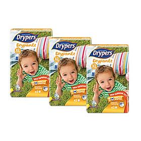 [combo 3 gói] Tã quần Drypers Drypantz XL 42 miếng (12 - 17kg)