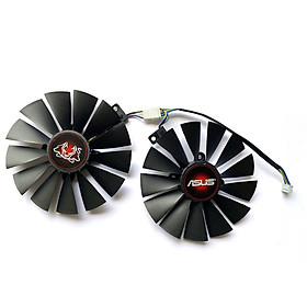 2PCS FDC10M12S9-C G-TX1070Ti Cooler Fan For ASUS T-X 1070 Ti CERBERUS ADVANCED Gaming Video Card Cooling Fans