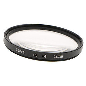 52mm Camera Lens Close-up  Effects Filter +4 Diopter Magnifier for