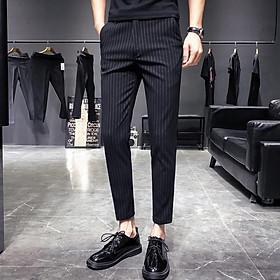 Quần âu nam kẻ sọc chất vải cotton cao cấp , chuẩn thiết kế hàn quốc, cực tôn dáng, lịch sự, trẻ trung