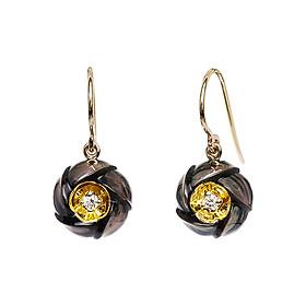 Bông Tai Galatea Jewelry Hoa Sứ Plumeria DIP-106.05EDYT - Đen