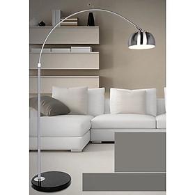 Đèn đứng - đèn sàn trang trí nội thất cong cần câu inox ROSIA cao cấp