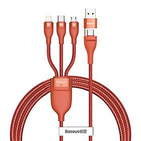 Cáp sạc nhanh 3 đầu Baseus Flash Series 3in1 Plus (USB+ Type C to Micro+Lightning + Type C, 100W Quick Charge and Data C) - Hàng Chính Hãng