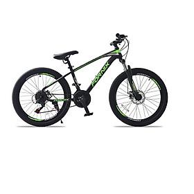Xe đạp địa hình hiệu FORNIX Racer, vòng bánh 24', màu Đen xanh lá