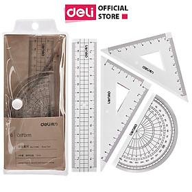 Bộ dụng cụ eke thước đo độ học sinh Deli - 1 bộ - 71988