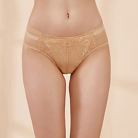 Ou Difen women's underwear in the waist briefs mesh no traces pants female sense hip lace underwear XP8260 brown M