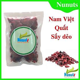 Nam việt quất sấy khô 100% tự nhiên ( gói 100g), vị chua chua ngọt ngọt, không tẩm ướp đường, ăn cực ngon Nunuts.