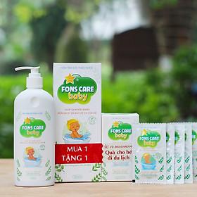 Sữa Tắm Gội Cho Trẻ Fons Care Baby chiết xuất Thảo Dược (300ml) Tặng kèm: 1 hộp 5 gói sữa tắm 10ml