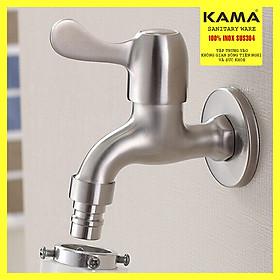 vòi nước inox 304 KAMA PK09 - Vòi nước máy giặt, hòi hồ tưới cây ban công - HÀNG CHÍNH HÃNG