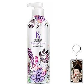 Dầu xả nước hoa Kerasys Elegence & Sensual hương violet và xạ hương Hàn Quốc 600ml tặng kèm móc khoá-0